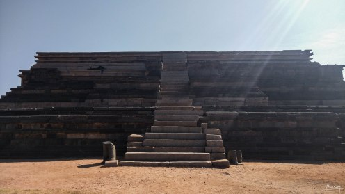 Base structure that once supported King's Palace