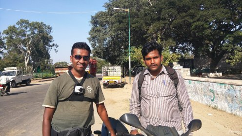 Me with my guide for the day, Manjunath