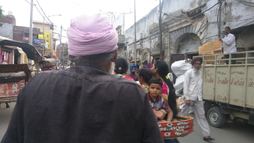 The Old Man with Rickshaw